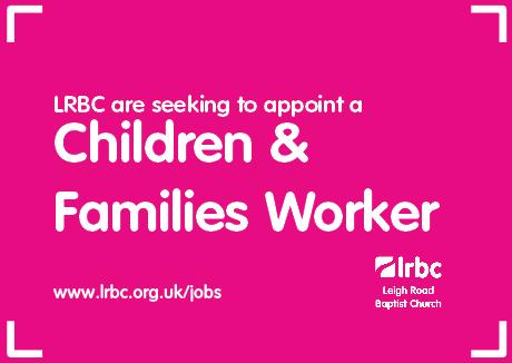 Children and Families Worker Job Leigh Road Baptist Church